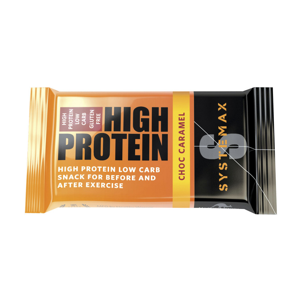 Systemax High Protein Low Carb Chocolate Caramel Bar 32g | eBay