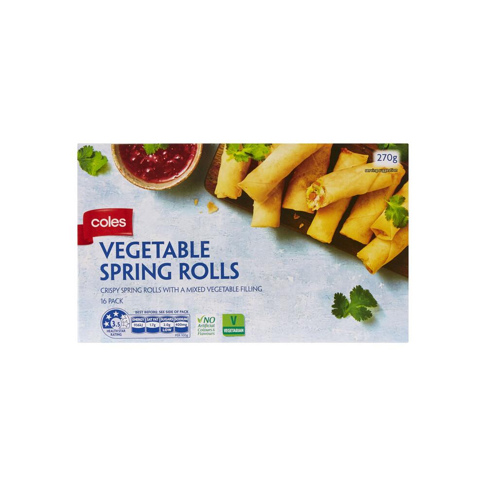 Coles Frozen Vegetable Spring Rolls 16 Pack 270g Ebay