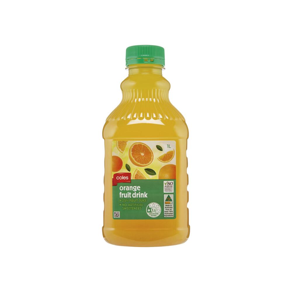 Coles Orange Fruit Drink 1l Ebay