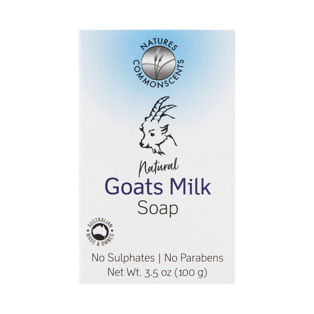 Details about Natures Commonscents Goats Milk Soap 100g